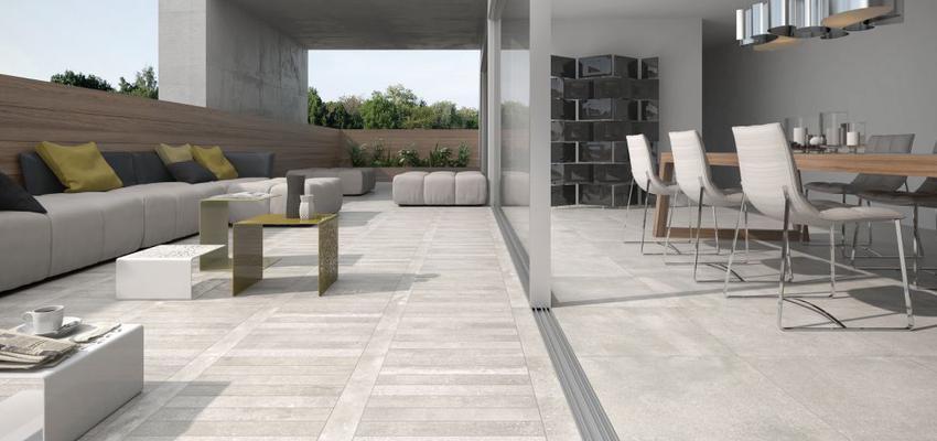 Terraza style contemporaneo color verde, marron, gris, gris  diseñado por keraben | Marca colaboradora | Copyright Keraben