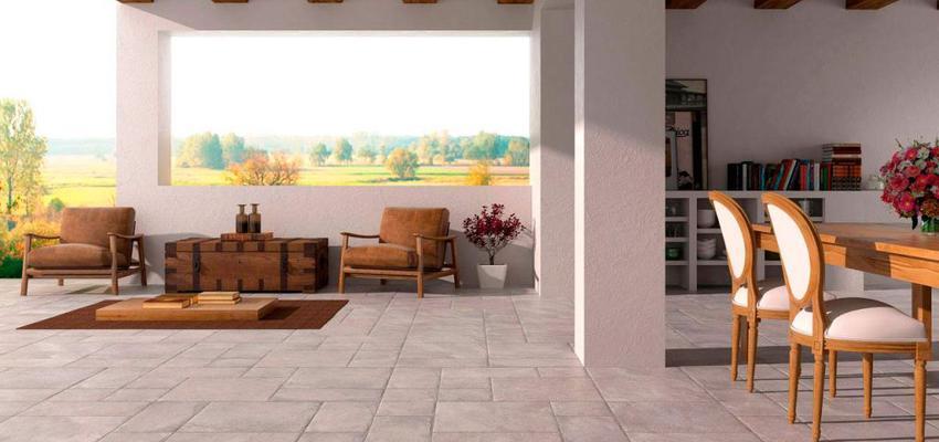 Terraza style rustico color marron, blanco  diseñado por keraben | Marca colaboradora | Copyright Keraben