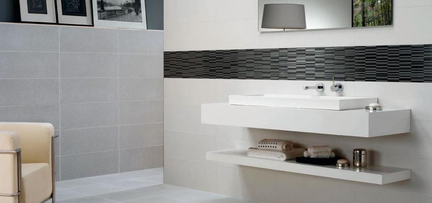 Baño style moderno color blanco, gris, gris  diseñado por keraben | Marca colaboradora | Copyright Keraben