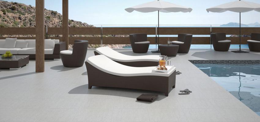 Terraza Estilo contemporaneo Color marron, marron, beige, blanco  diseñado por keraben | Marca colaboradora | Copyright Keraben