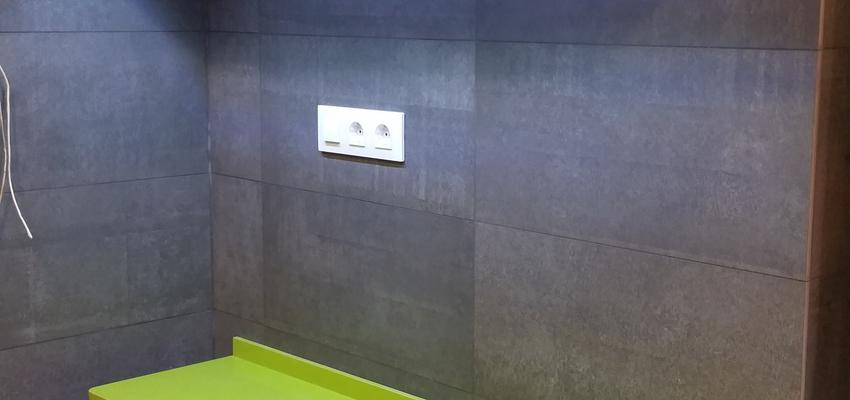 Cocina Estilo moderno Color rojo, verde, gris  diseñado por David Fernández Mora | Gremio | Copyright SOY PROPIETARIO