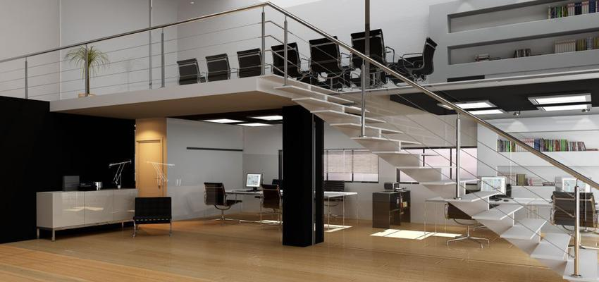 Oficina style moderno color marron, blanco, negro, plateado  diseñado por Comenza | Marca colaboradora | Copyright Comenza