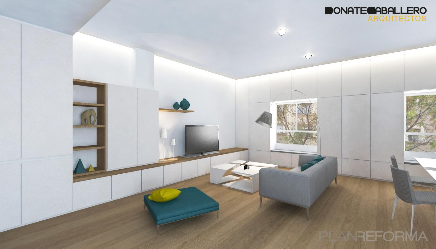 Salon estilo moderno color turquesa blanco gris gris - Salon moderno blanco ...