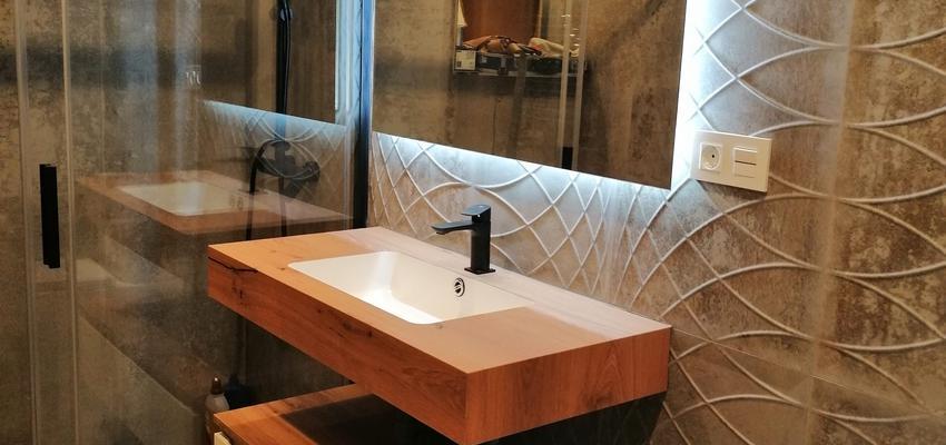 Baño Estilo moderno Color marron  diseñado por AKTUAL Diseño y Obra | Gremio | Copyright AKTUAL