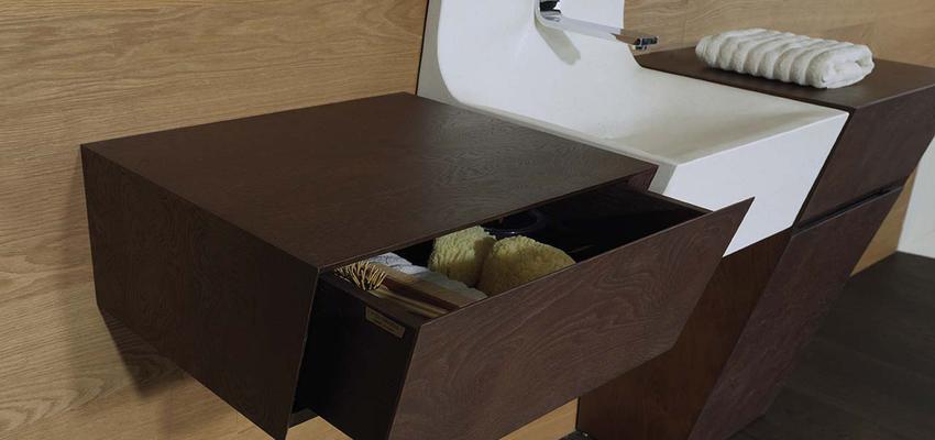 Baño style moderno color marron, marron, blanco  diseñado por PORCELANOSA | Marca colaboradora | Copyright porcelanosa