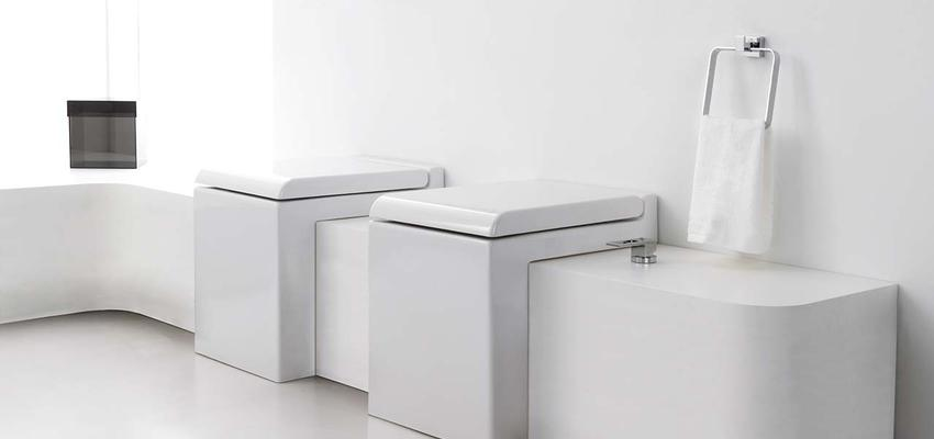 Baño style vanguardista color blanco, gris  diseñado por PORCELANOSA | Marca colaboradora | Copyright porcelanosa