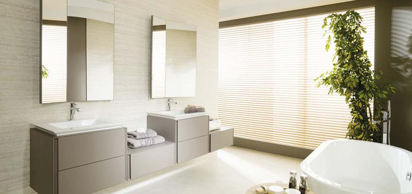 Baño style contemporaneo color beige, blanco, gris  diseñado por PORCELANOSA   Marca colaboradora   Copyright porcelanosa