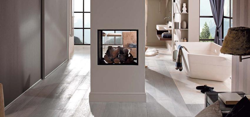 Baño style moderno color marron, blanco, gris  diseñado por PORCELANOSA | Marca colaboradora | Copyright porcelanosa