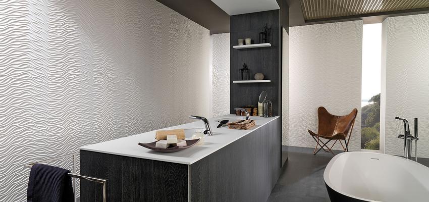 Baño style moderno color marron, blanco, gris, negro  diseñado por PORCELANOSA | Marca colaboradora | Copyright porcelanosa