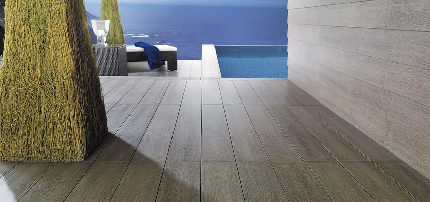 Exterior style moderno color verde, azul, marron  diseñado por PORCELANOSA | Marca colaboradora | Copyright porcelanosa