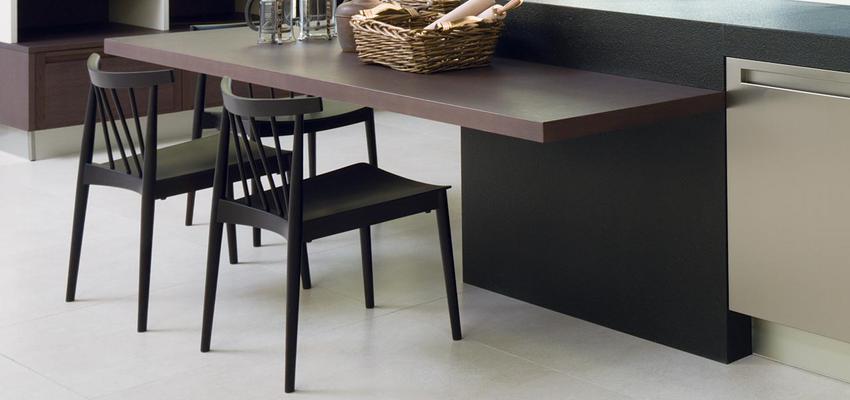 Cocina style contemporaneo color marron, gris, negro, plateado  diseñado por PORCELANOSA | Marca colaboradora | Copyright porcelanosa