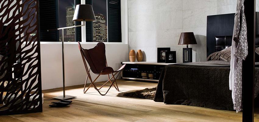 Dormitorio style contemporaneo color marron, blanco, gris, negro  diseñado por PORCELANOSA   Marca colaboradora   Copyright porcelanosa