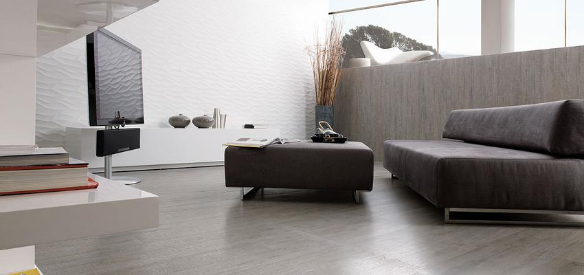 Comedor, Sala de la TV, Salon style contemporaneo color marron, gris, gris, negro, plateado  diseñado por PORCELANOSA | Marca colaboradora | Copyright porcelanosa
