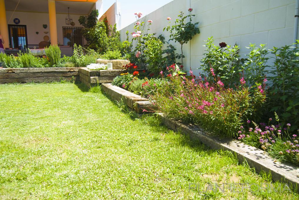 porche exterior jardin style rustico color rosa