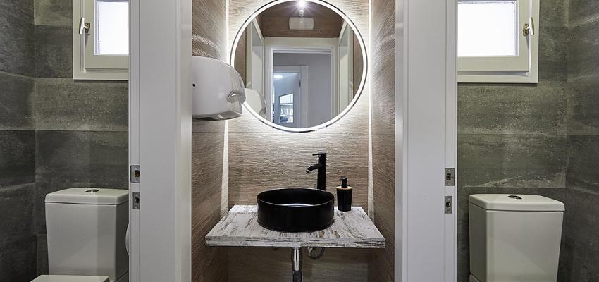 Baño, Restaurante Estilo contemporaneo Color marron, beige, marron  diseñado por Best Innova Project S.L. | Gremio | Copyright Best Innova Project S.L.