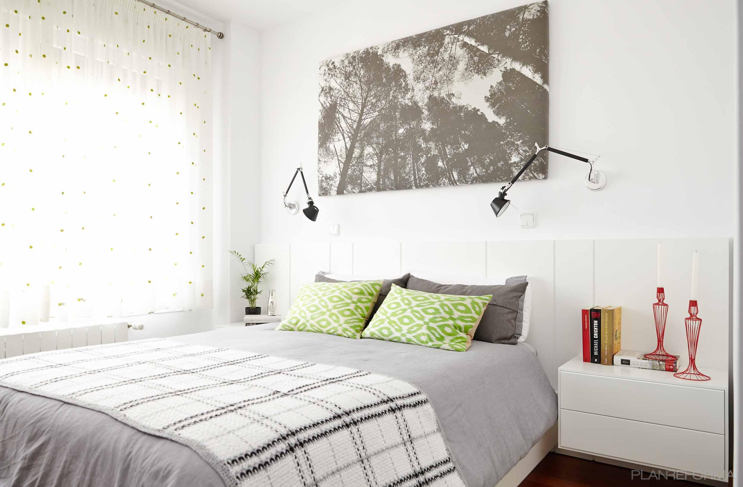 Dormitorio style moderno color beige blanco gris for Dormitorios color blanco