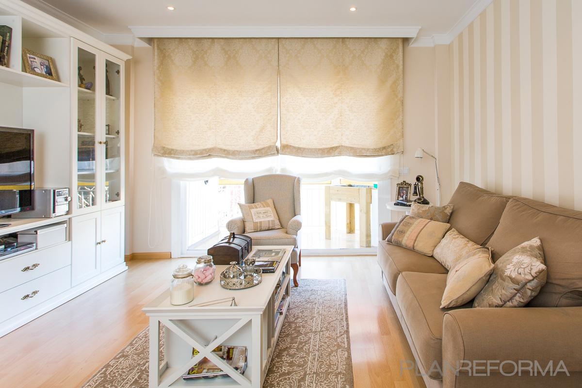 Salon estilo clasico color beige marron blanco - Decorar salon clasico ...