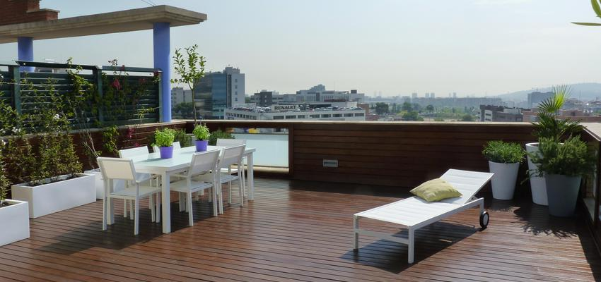 Terraza, Exterior Estilo contemporaneo Color verde, rosa, marron  diseñado por Eva Vidal Mateu - Taller de Paisatge | Paisajista