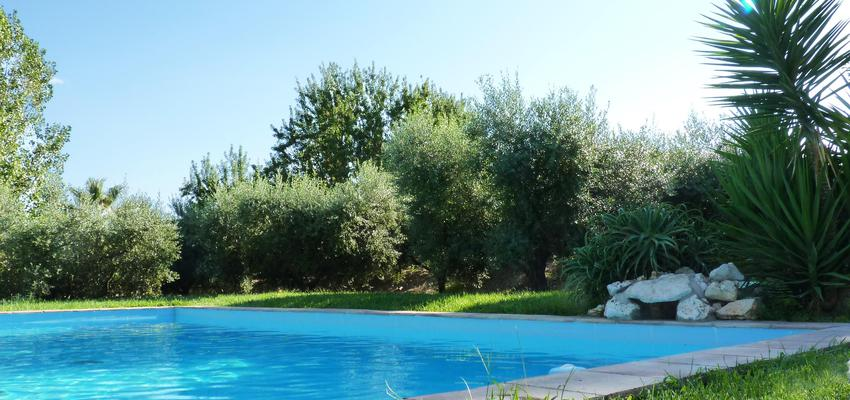 Piscina, Exterior, Jardin Estilo mediterraneo Color verde, turquesa, marron  diseñado por Eva Vidal Mateu - Taller de Paisatge | Paisajista