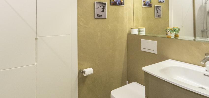 Baño Estilo moderno Color marron, marron, gris  diseñado por Galera | Gremio | Copyright Galera