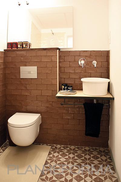 Ba o estilo vintage color beige marron blanco negro - Banos estilo vintage ...