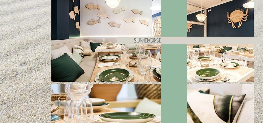 Restaurante Estilo mediterraneo Color verde, marron, beige  diseñado por B-Espoke | Gremio | Copyright SI