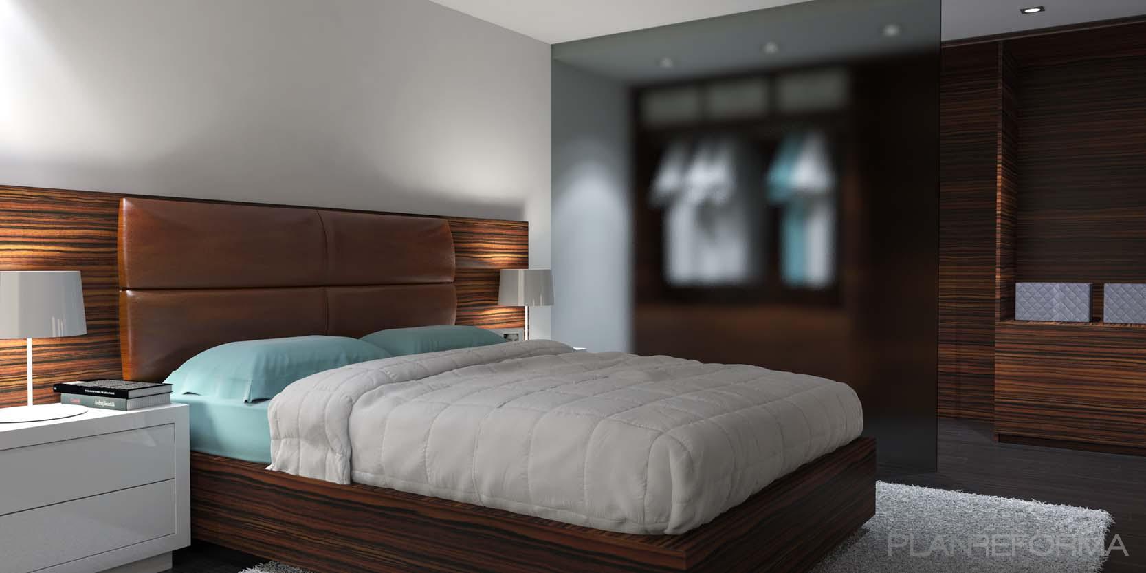 Dormitorio style contemporaneo color turquesa marron - Dormitorios contemporaneos ...