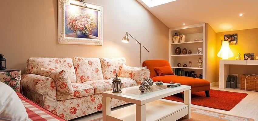 Estudio, Salon Estilo contemporaneo Color rojo, rosa, beige  diseñado por DH Reformas | Gremio | Copyright Deshiria Home