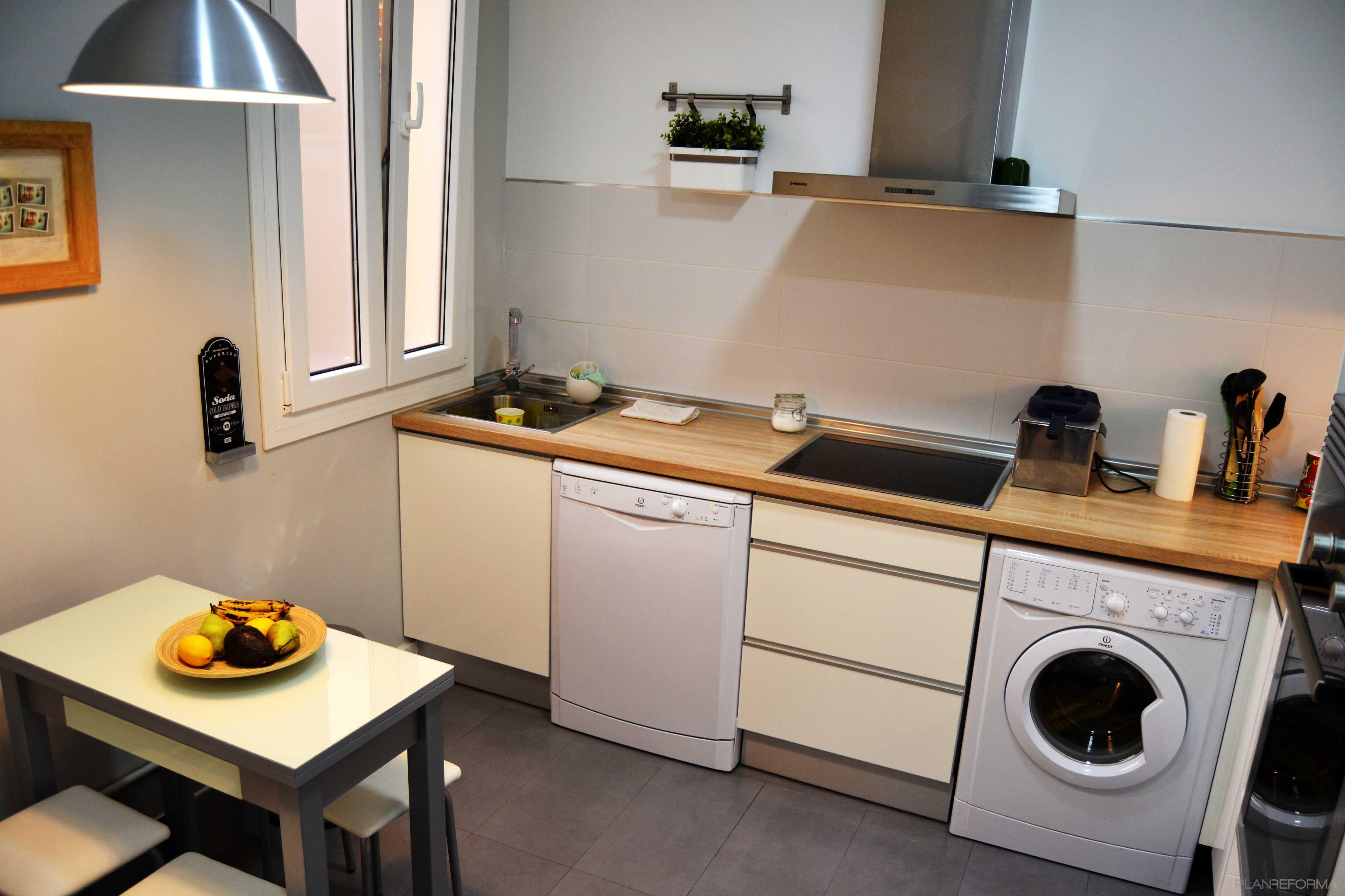 Cocina style moderno color beige marron beige blanco gris - Cocinas blanco y gris ...