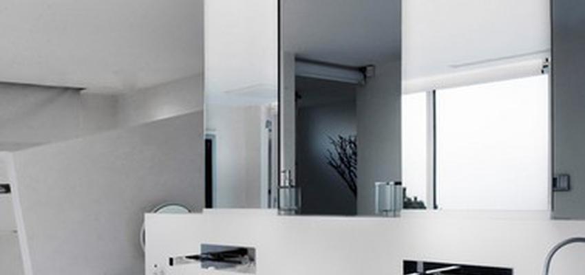 Baño style moderno color blanco, gris  diseñado por Pujol iluminacion | Marca colaboradora | Copyright Iluminación Pujol