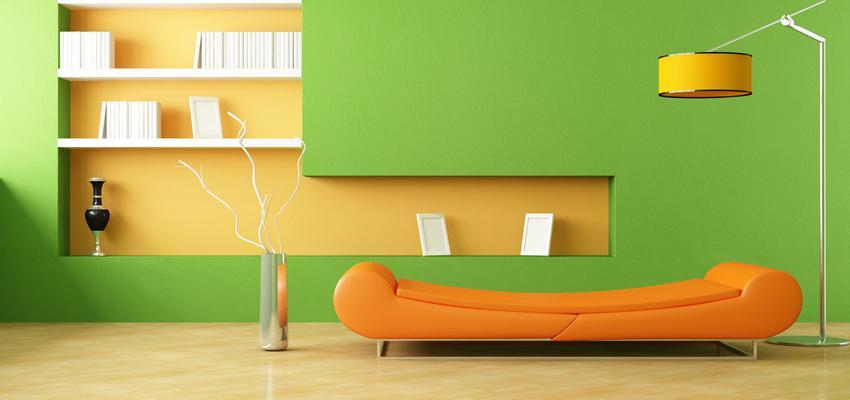 Salon style vintage color ocre, amarillo, verde  diseñado por TITANLUX | Marca colaboradora | Copyright Titanlux