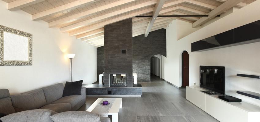 Salon Estilo contemporaneo Color beige, blanco, gris  diseñado por HERMES HOUSES | Gremio