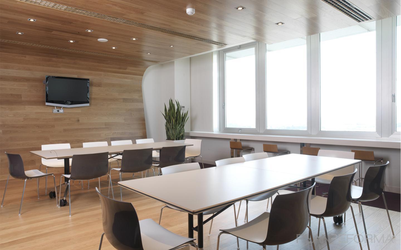 Comedor oficina cafeteria estilo moderno color marron for Comedor gris y blanco