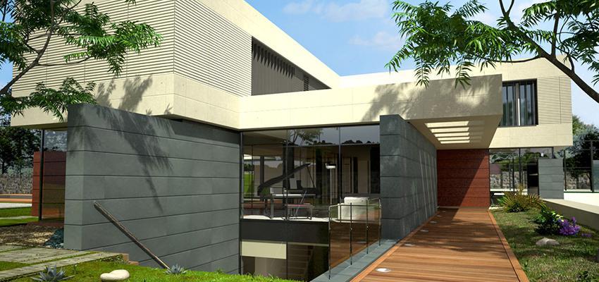 Sotano, Exterior, Galería Estilo moderno Color blanco, gris, bronce  diseñado por Goko | Arquitecto