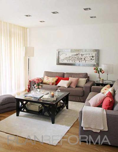 Salon Estilo contemporaneo Color marron, blanco, gris, negro  diseñado por Marta Sellarès - Interiorista | Interiorista | Copyright Marta Sellarès