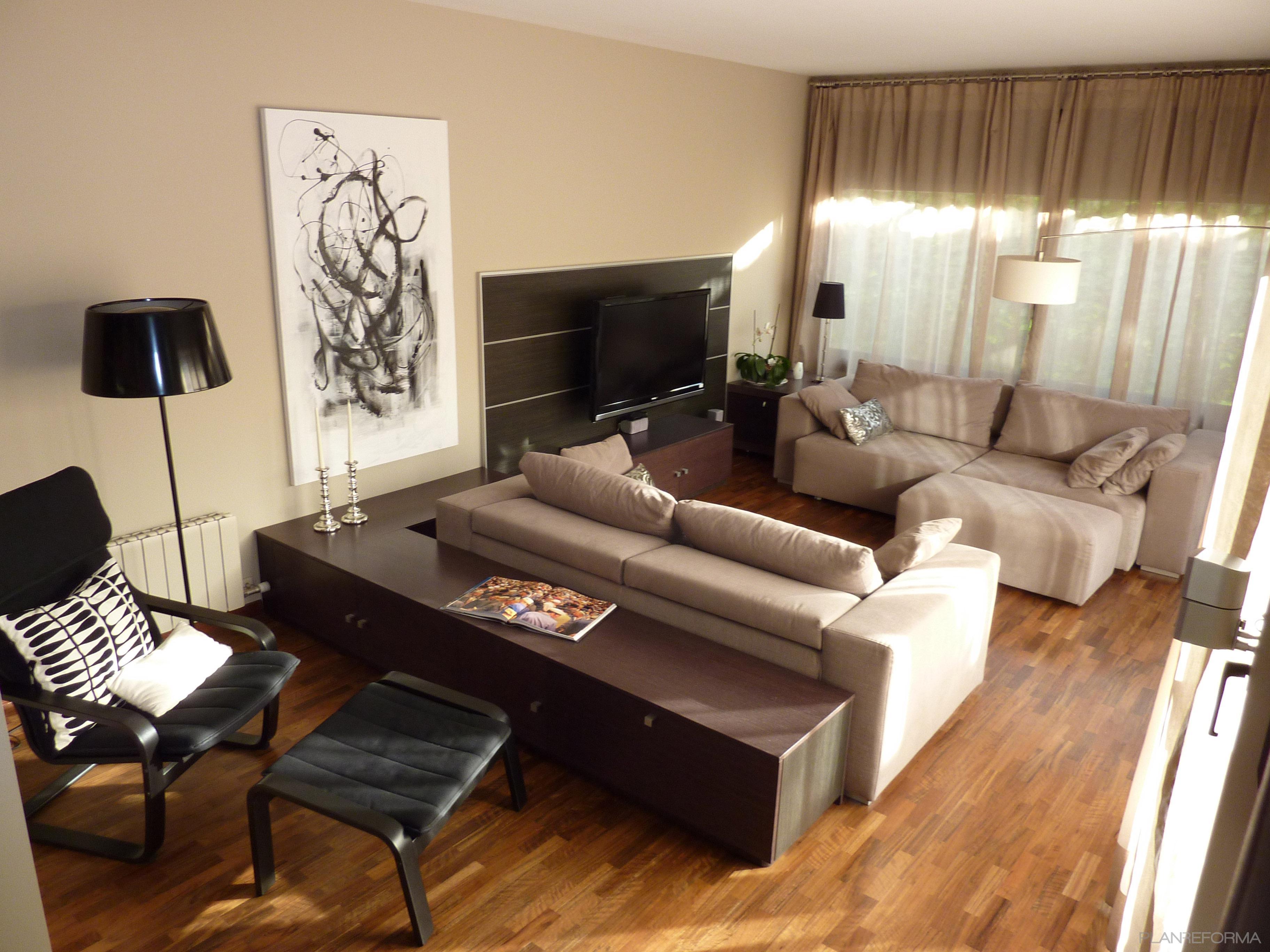 Comedor sala de la tv loft estilo contemporaneo color for Sala estilo contemporaneo