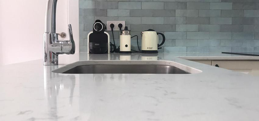 Cocina Estilo moderno Color blanco  diseñado por Fermix construcciones s.l   Gremio   Copyright Fermix construcciones s.l