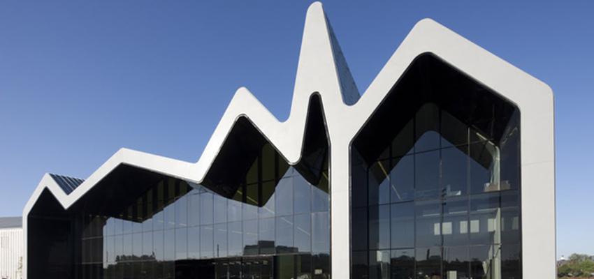 Exterior Estilo vanguardista Color blanco, negro  diseñado por Zaha Hadid   Gremio