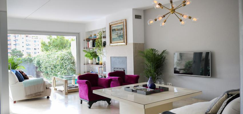 Salon Estilo clasico Color rosa, beige, gris  diseñado por The Numen Studio | Interiorista | Copyright The Numen Studio