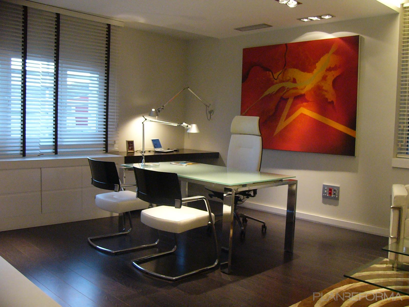Estudio style contemporaneo color blanco for Interiorismo contemporaneo