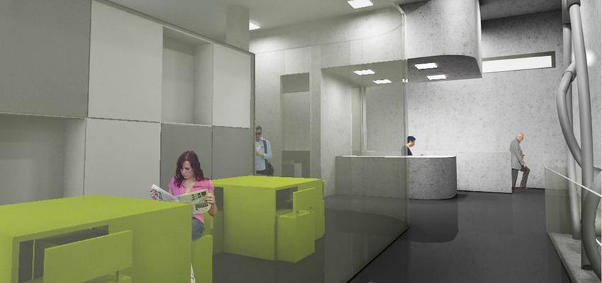 Estudio, Sala de musica, Oficina Estilo contemporaneo Color verde, gris, gris  diseñado por Spectre Diseño y Arquitectura de Interiores | Interiorista | Copyright spectreinteriores