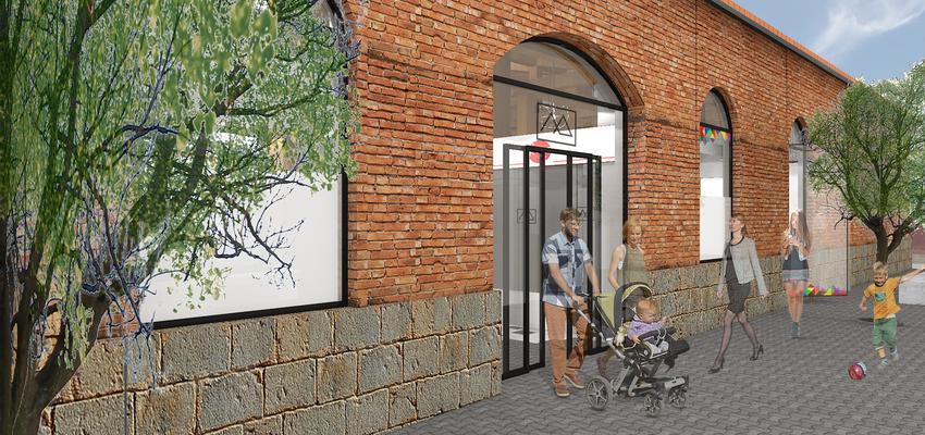 Tienda, Cafeteria, Bar Estilo contemporaneo Color ocre, verde, beige  diseñado por Spectre Diseño y Arquitectura de Interiores | Interiorista | Copyright spectreinteriores