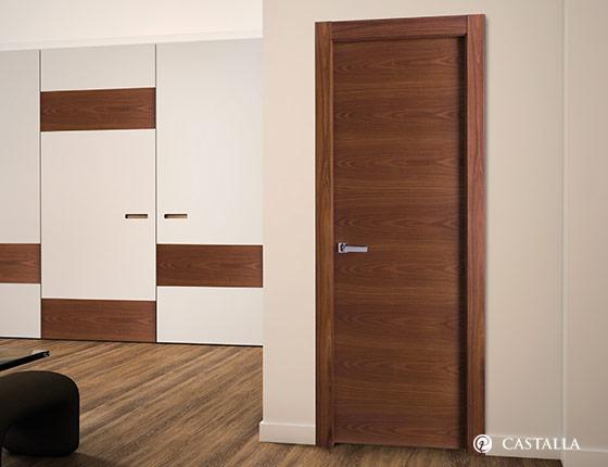 Dormitorio estilo moderno color marron plateado bronce for Puertas dormitorio