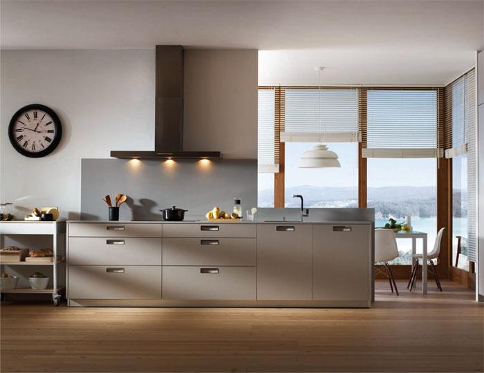 Comedor, Cocina style contemporaneo color marron, blanco, gris