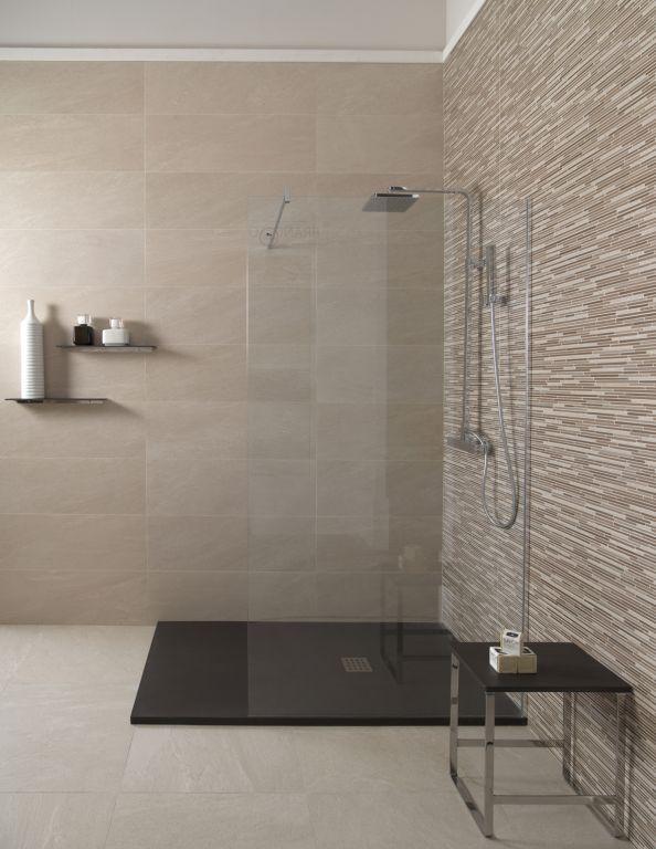 Ba o estilo contemporaneo color beige marron blanco negro - Ceramica keraben ...