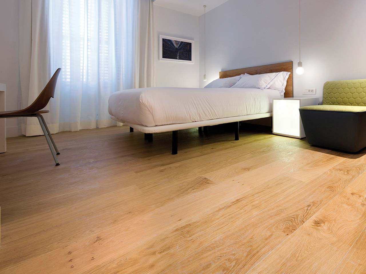 dormitorio style contemporaneo color marron verde marron blanco negro. Black Bedroom Furniture Sets. Home Design Ideas