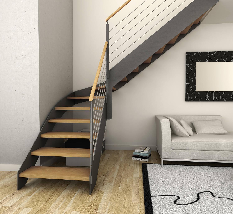 Escalera Estilo Moderno Color Rojo Negro